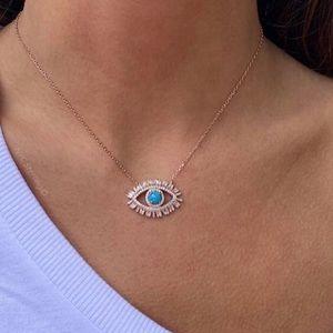 Jewelry - Baguette Eye Necklace